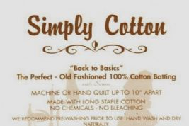 "Simply Cotton Quilt Wadding - 90"" wide - 100% Cotton"
